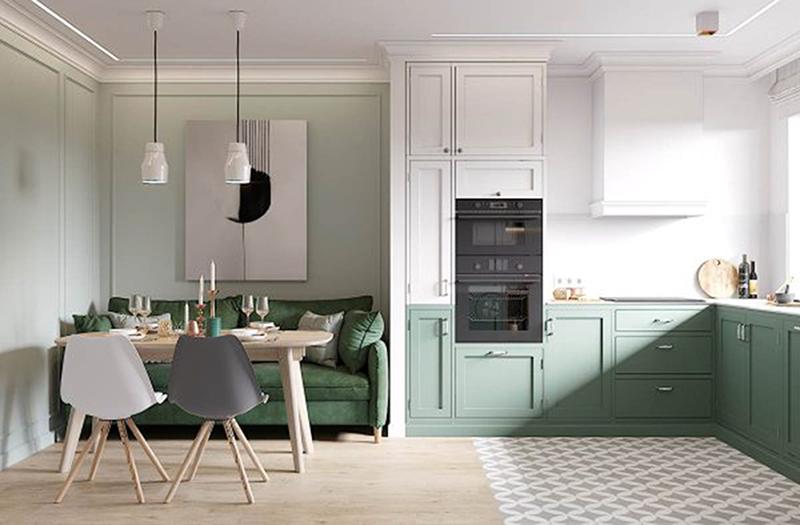 armários bicolor - cozinhas integradas