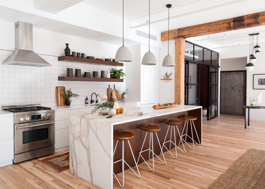 Cozinhas integradas com Vibe natural