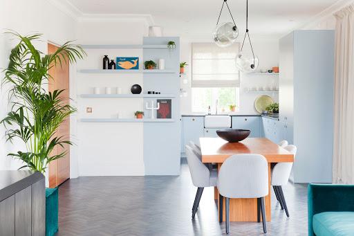 Cozinhas integradas com Tons pastel