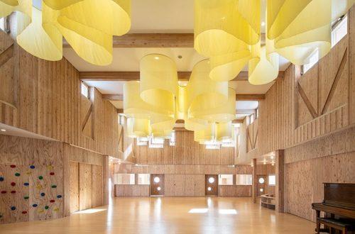 Kengo Kuma projeta creche inspirada em campo de girassóis do Japão
